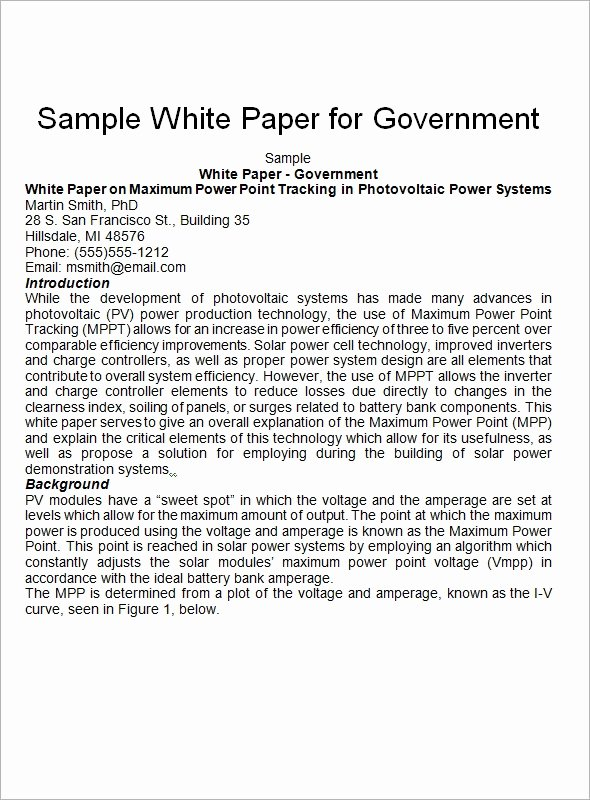 White Paper Examples Unique White Paper Template