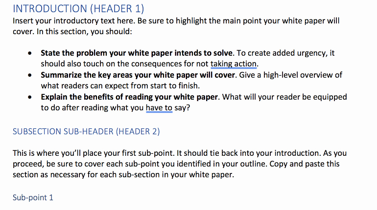 White Paper Template Indesign Best Of How to Write White Papers People Actually Want to Read
