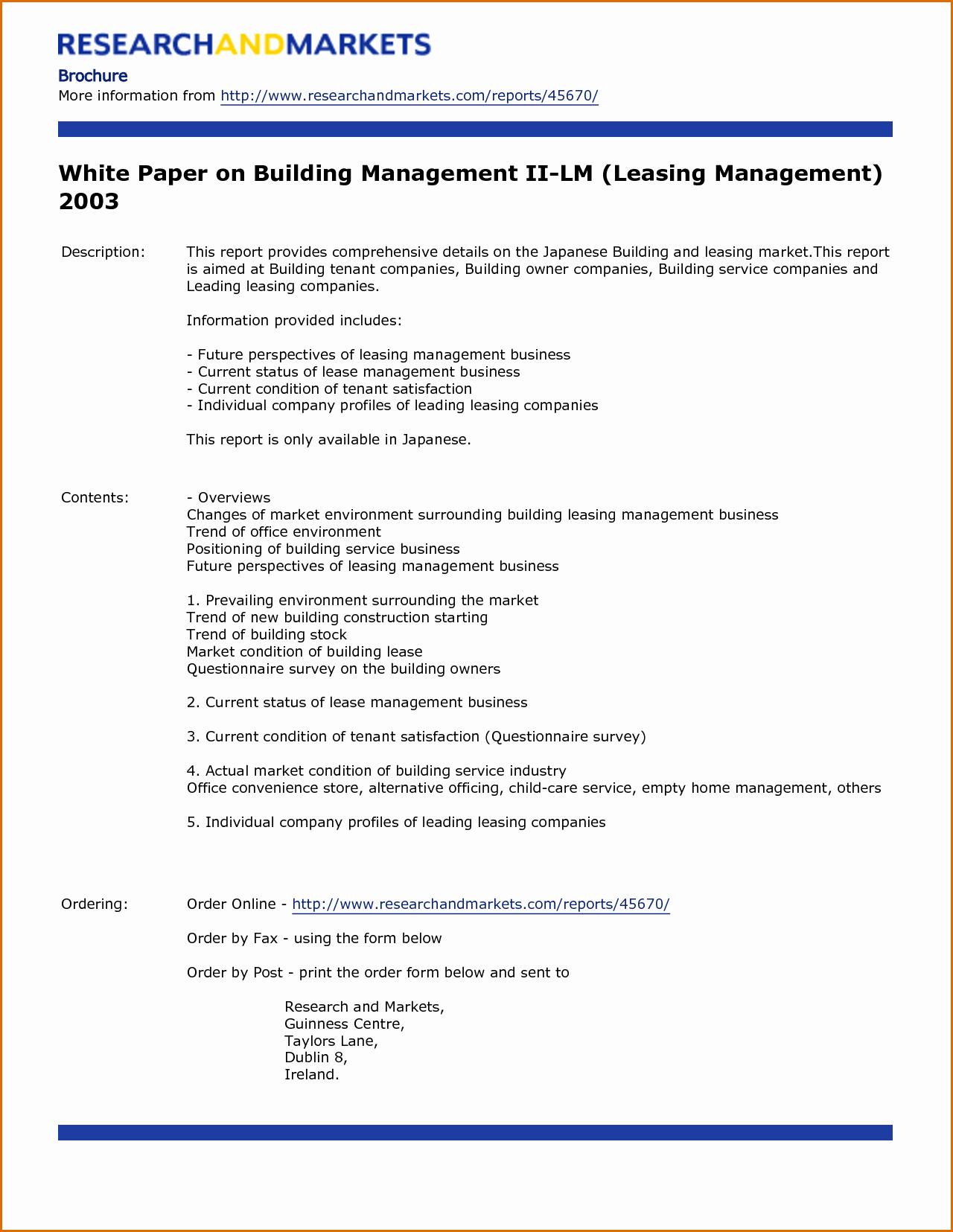 White Paper Template Word Elegant 7 White Paper Template