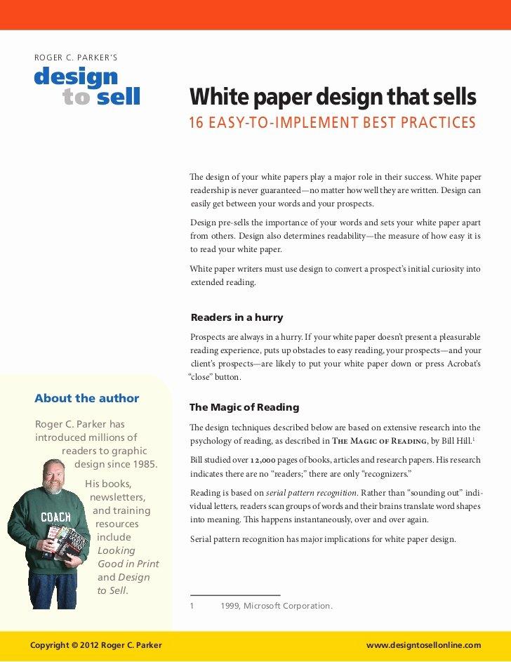 White Paper Template Word Unique White Paper Template