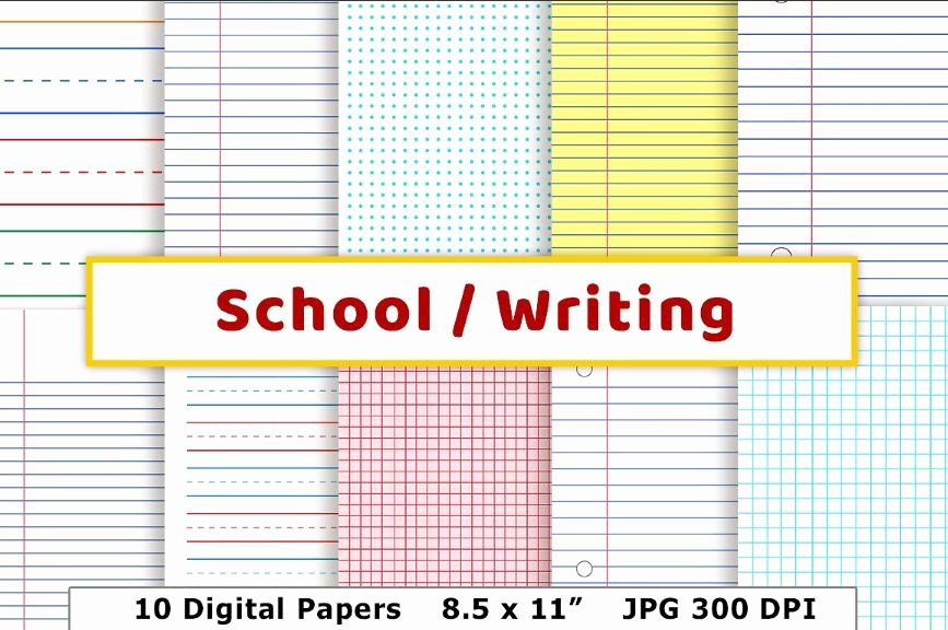 Wide Lined Paper for Kindergarten Beautiful Free Printable Lined Paper to Print for Kids and Adults