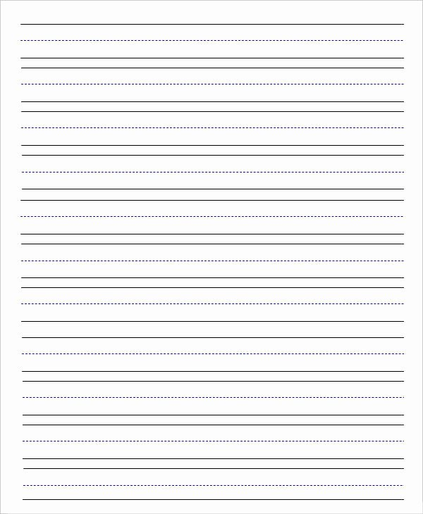 Wide Lined Paper for Kindergarten Elegant 14 Lined Paper Templates In Pdf