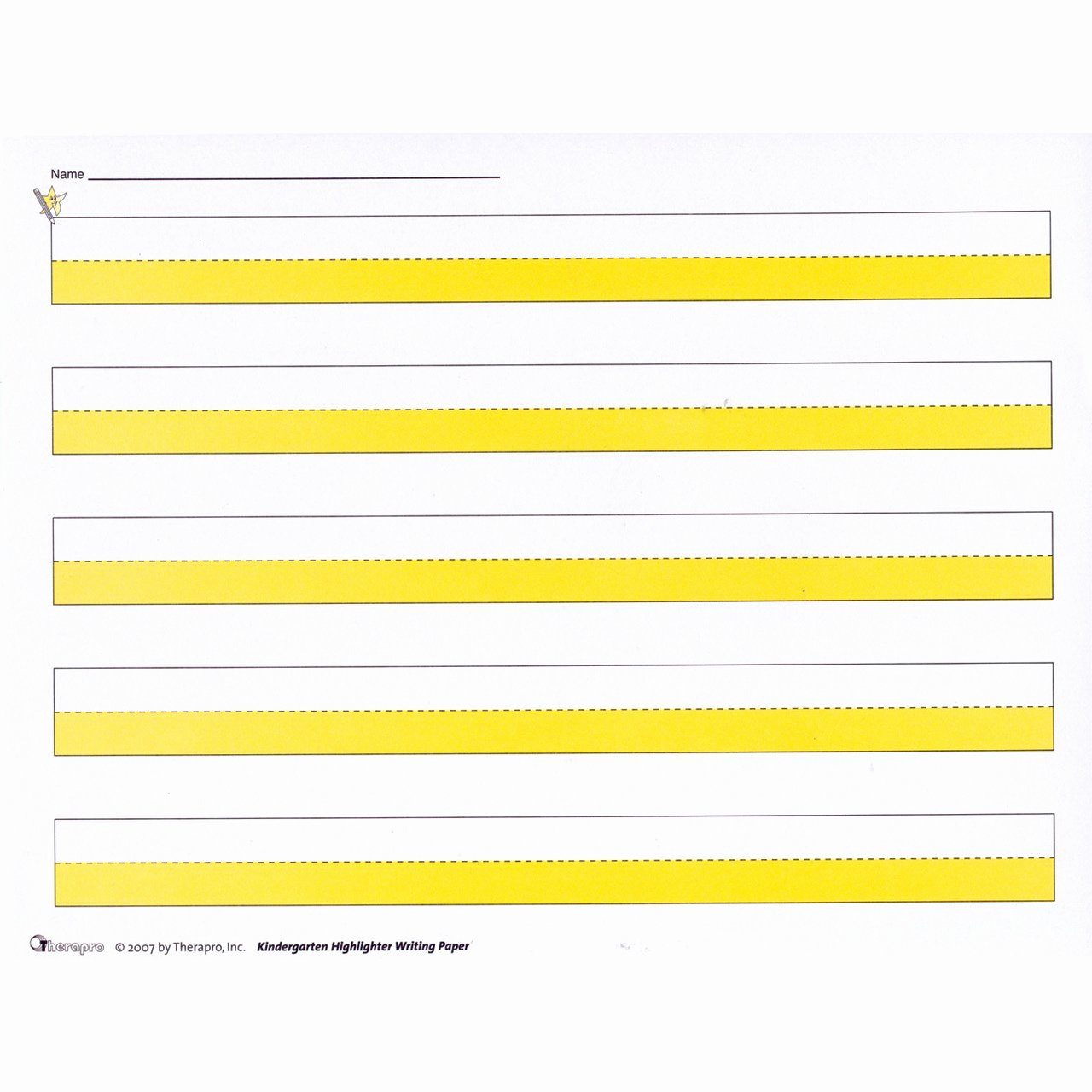 Wide Lined Paper for Kindergarten Elegant Maxiaids