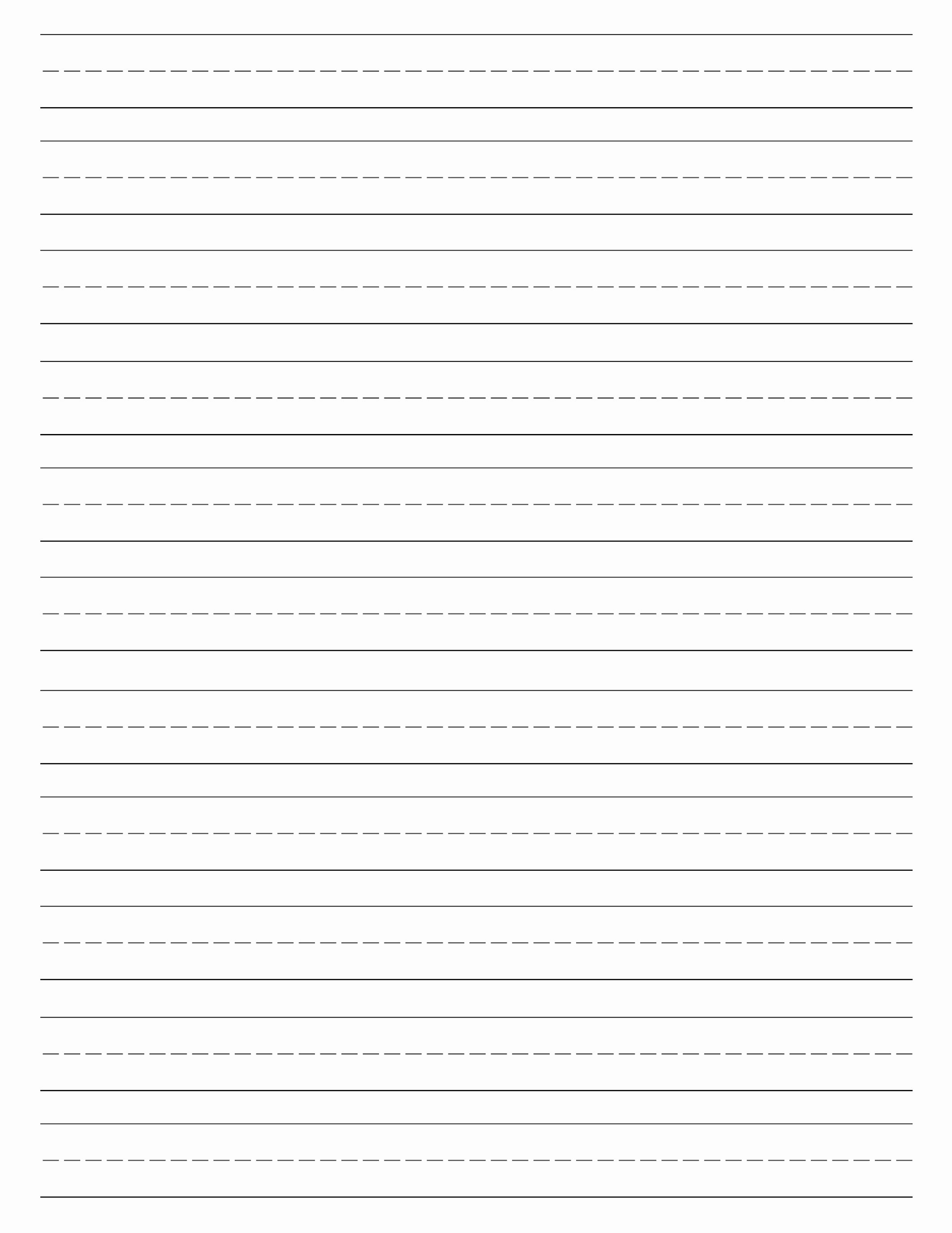 Wide Lined Paper for Kindergarten Fresh Free Printable Lined Handwriting Paper Printable Pages