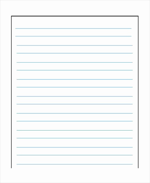 Wide Lined Paper for Kindergarten Fresh Ruled Paper Printable – Printable Graph Paper Templates