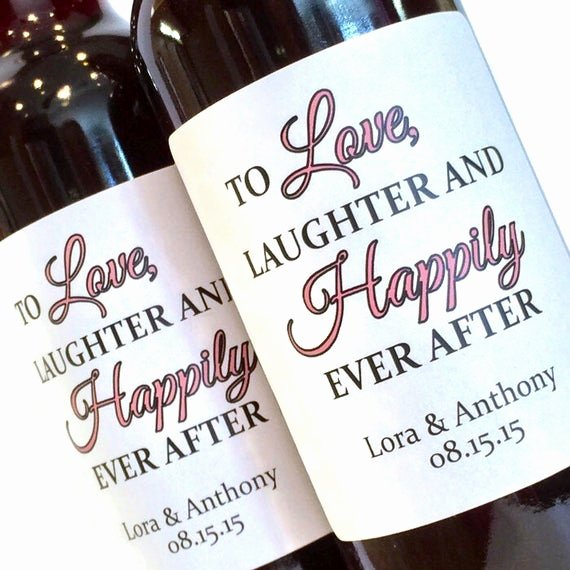 Wine Labels for Bridal Shower Awesome Bridal Shower or Wedding Favor Mini Wine Labels Love Laughter