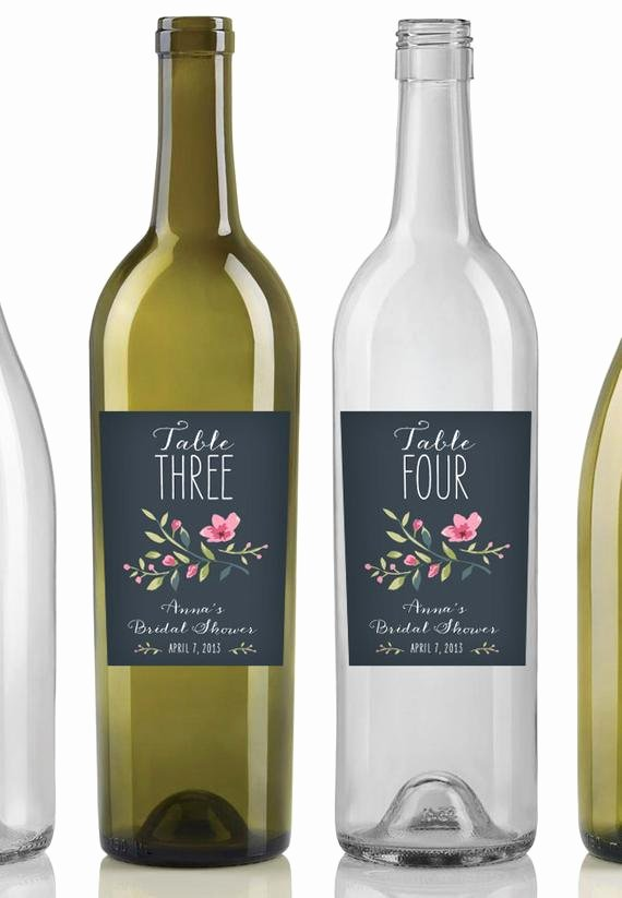 Wine Labels for Bridal Shower Beautiful Items Similar to Custom Table Number Wine Labels Baby