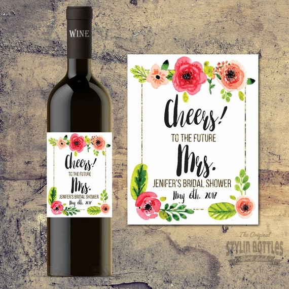 Wine Labels for Bridal Shower Beautiful Personalized Bridal Shower Wine Labels Bridal Shower