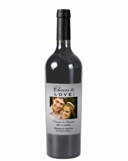 Wine Labels for Bridal Shower Beautiful Silver Wedding Wine Bottle Favor Wine Customizable