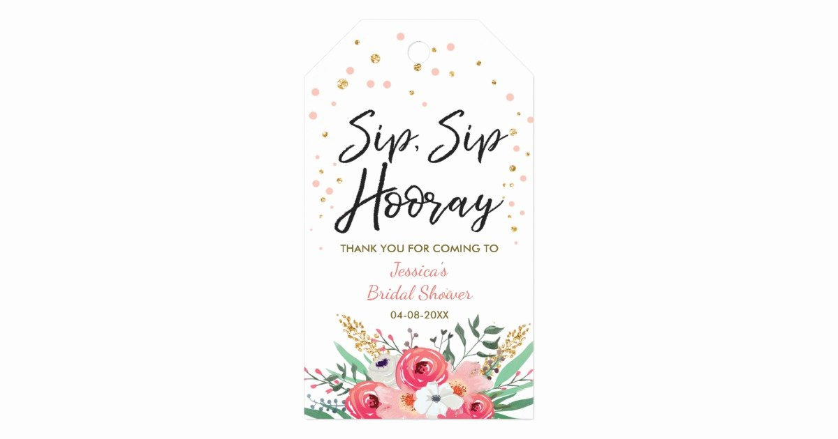 Wine Labels for Bridal Shower Beautiful Sip Sip Hooray Tags Wine Labels Bridal Shower Gold
