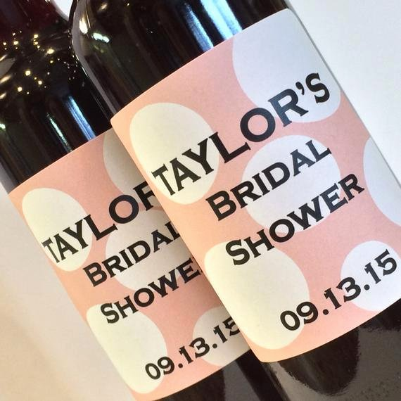 bridal shower mini wine bottle labels