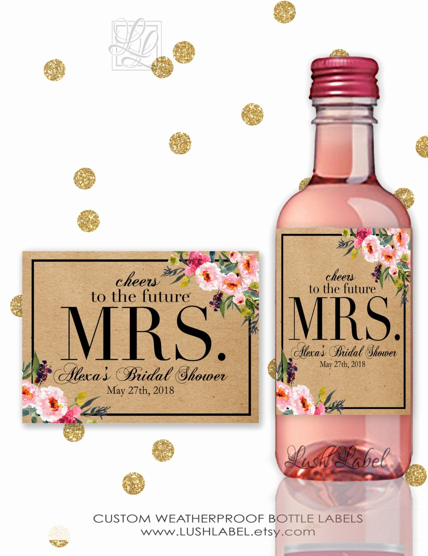 Wine Labels for Bridal Shower Elegant Bridal Shower Wine Champagne Mini Bottle Labels Unique Decor