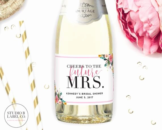 Wine Labels for Bridal Shower Fresh Bridal Shower Favor Mini Champagne Labels Personalized