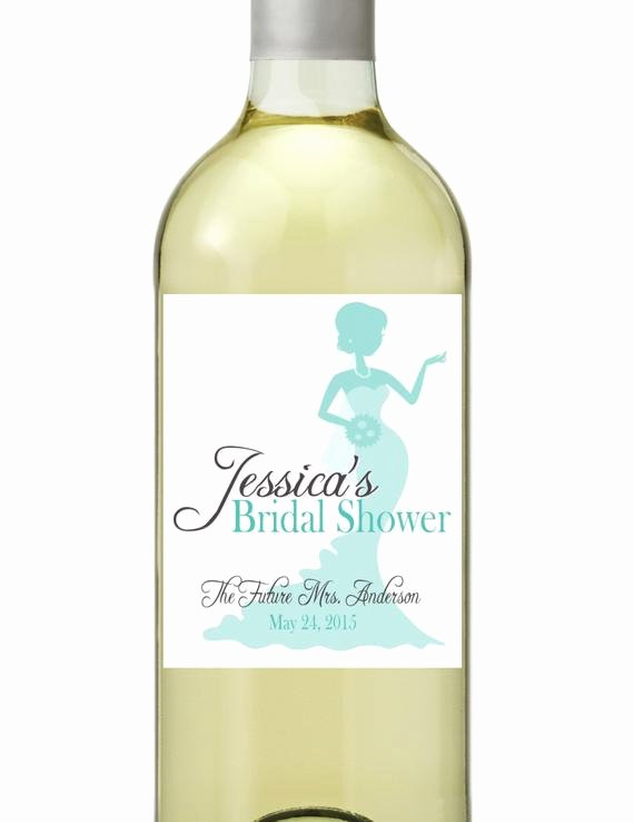 Wine Labels for Bridal Shower Fresh Bridal Shower Wine Bottle Labels Customized by