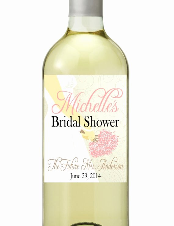 Wine Labels for Bridal Shower Luxury Bridal Shower Wine Bottle Labels Customized Personalized