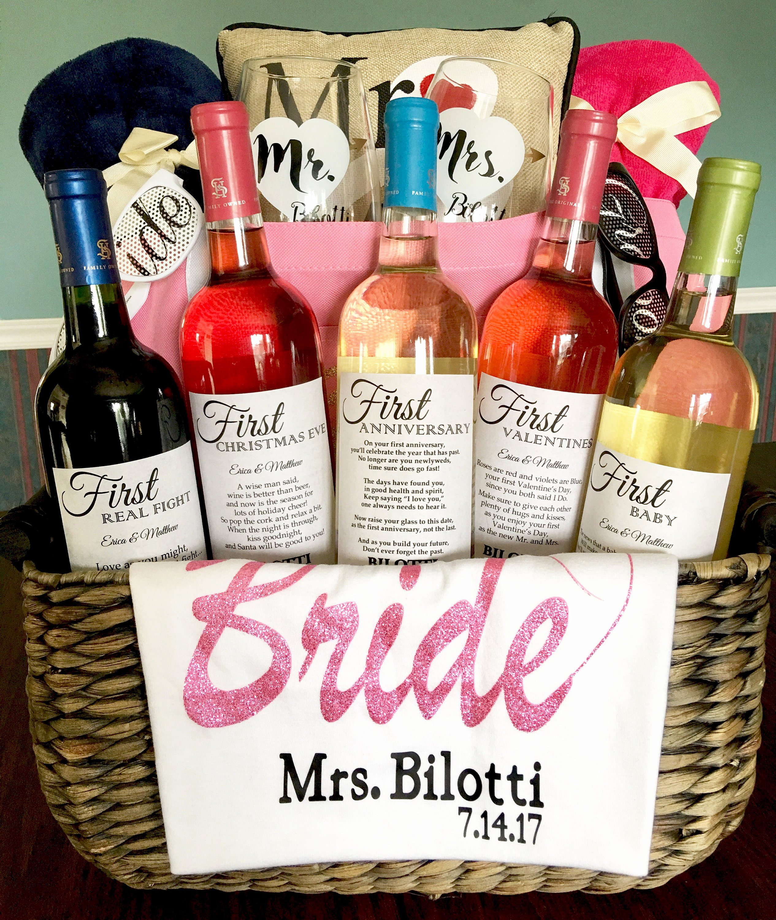 Wine Labels for Bridal Shower New 8 Bridal Shower Wine Labels First Dates with Glitter