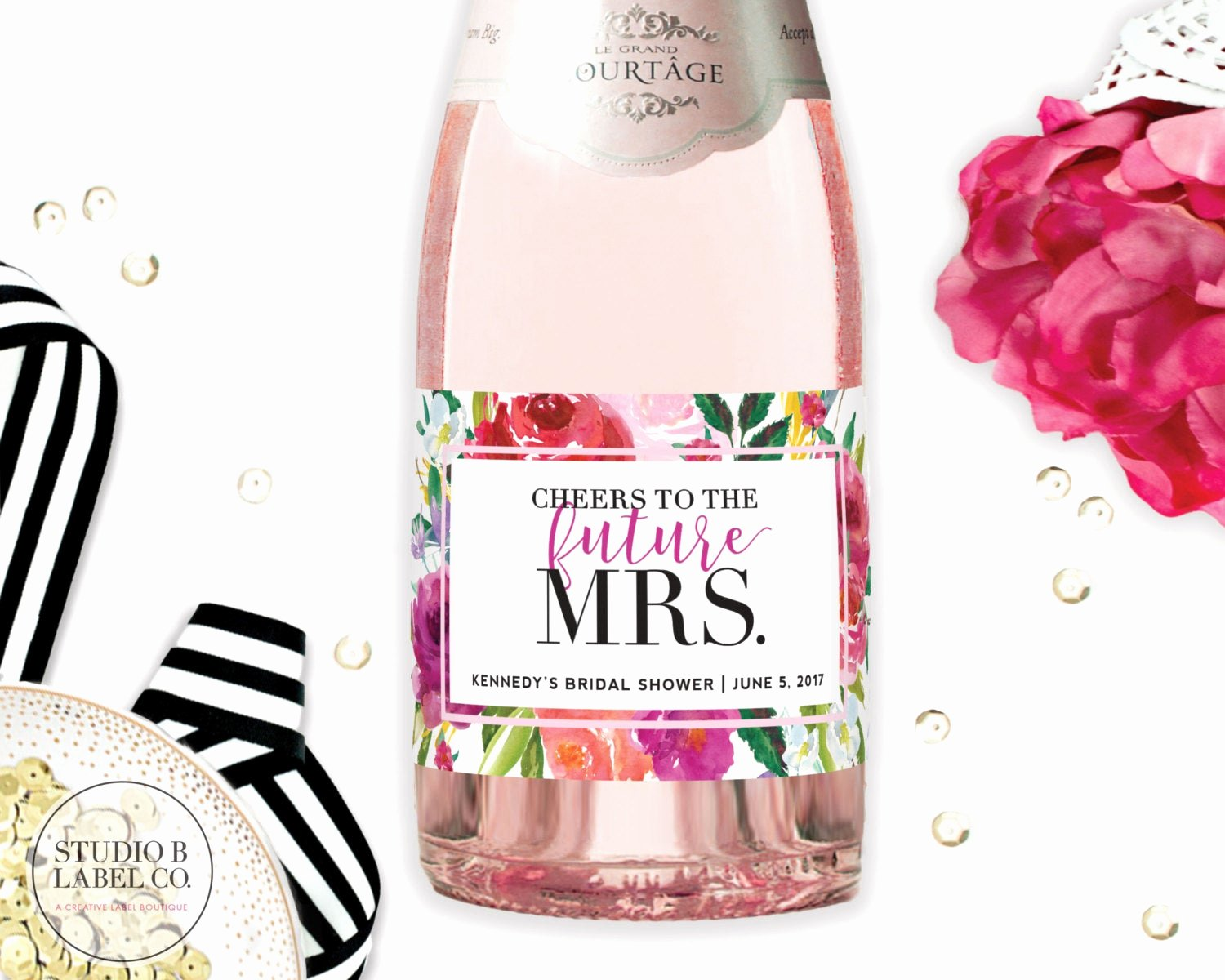 Wine Labels for Bridal Shower New Bridal Shower Favor Mini Champagne Labels Personalized