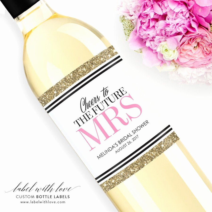 Wine Labels for Bridal Shower New Custom Bridal Shower Wine Labels Personalized Bachelorette