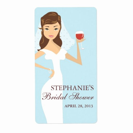 Wine Labels for Bridal Shower New Modern Bride Bridal Shower Wine theme Label