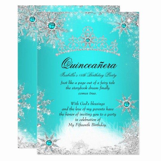 Winter Wonderland Quinceanera Invitations Best Of Silver Winter Wonderland Blue Quinceanera Invite