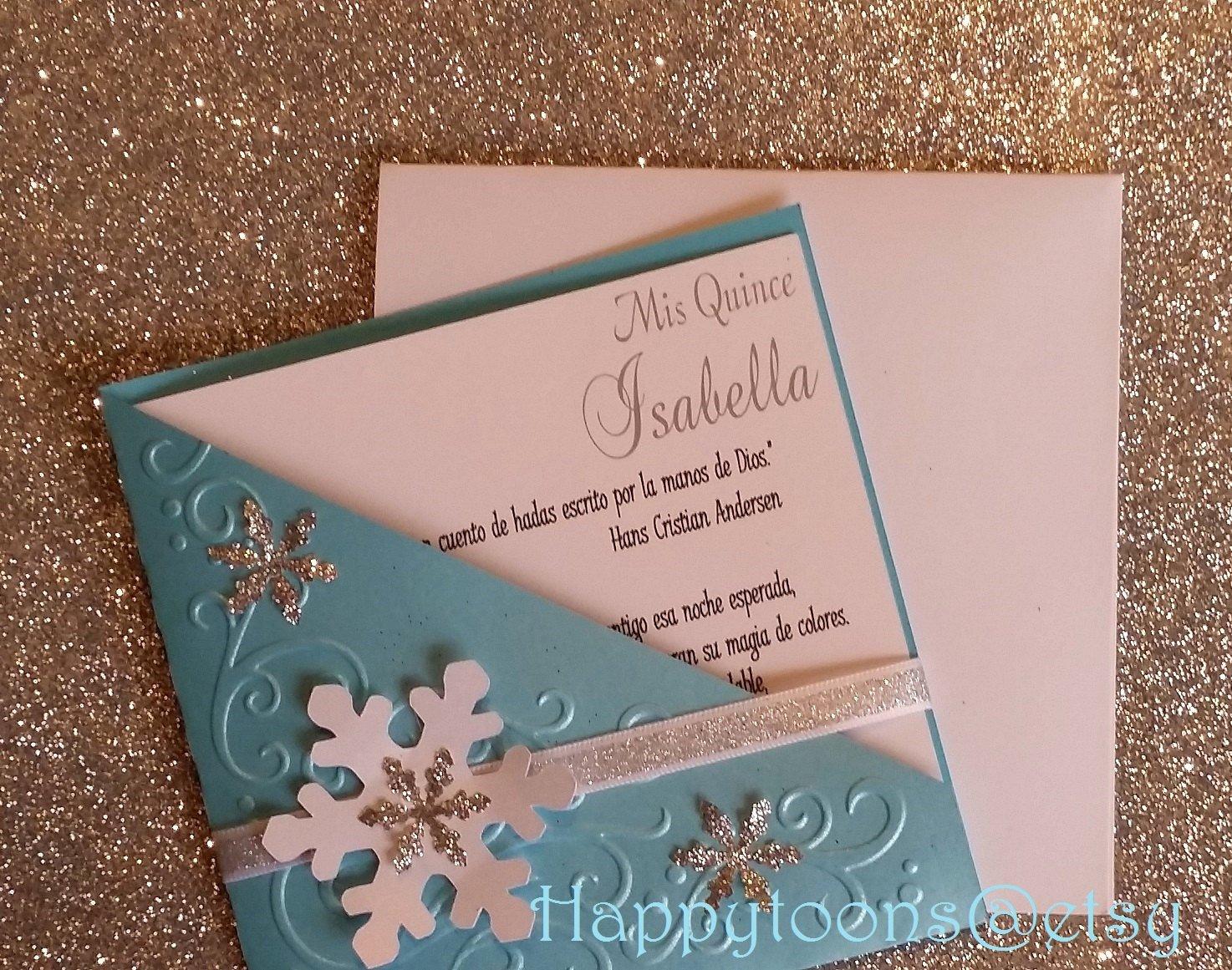 Winter Wonderland Quinceanera Invitations Elegant Winter Wonderland Invitation Quinceañera Invitation Sweet