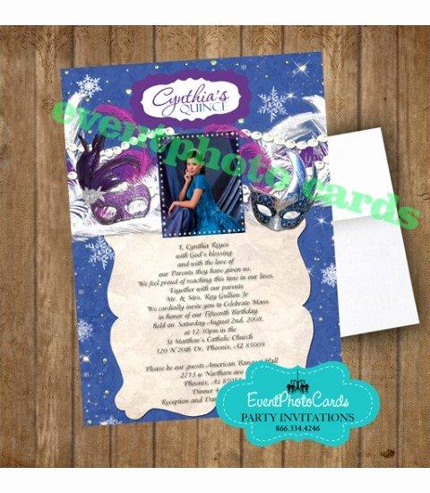 Winter Wonderland Quinceanera Invitations Lovely Winter Wonderland Invite Announcements for Birthday Party