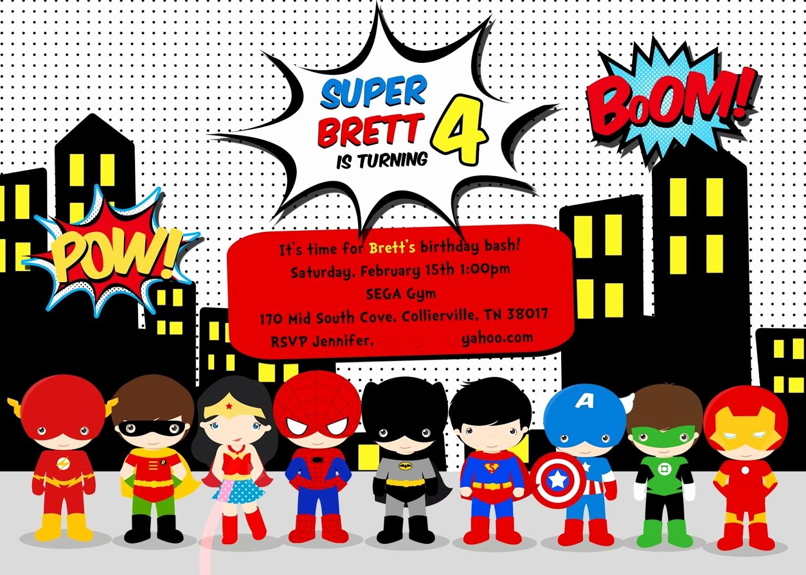Wonder Woman Invitation Template Awesome Ideas About Free Printable Superhero Birthday Party