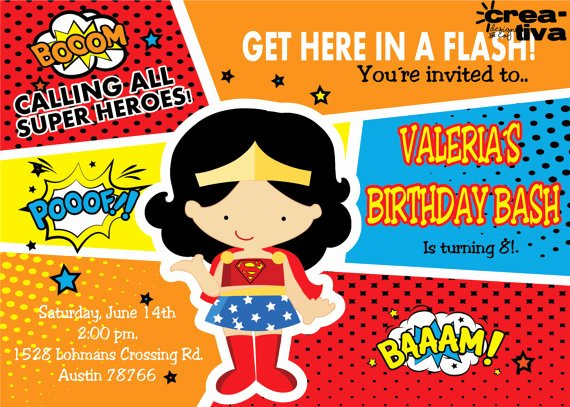 Wonder Woman Invitation Template Awesome Wonder Woman Invitation Wonder Women Dy Printables Free