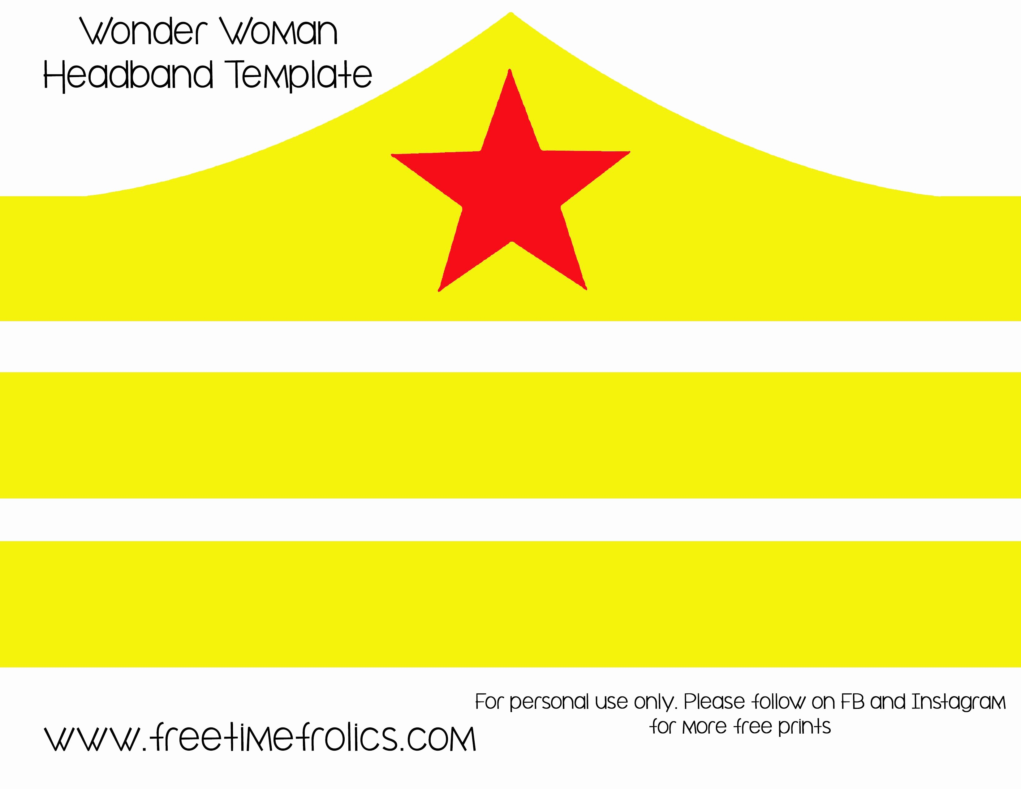 Wonder Woman Invitation Template Fresh Wonder Woman Crown Template