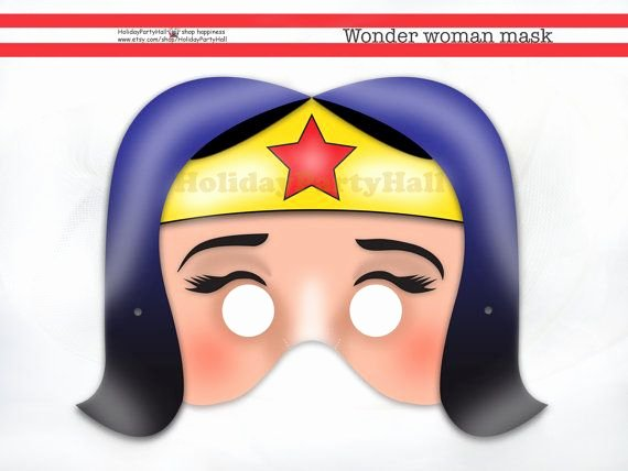 Wonder Woman Invitation Template Unique Wonder Woman Mask Party and Party Masks On Pinterest