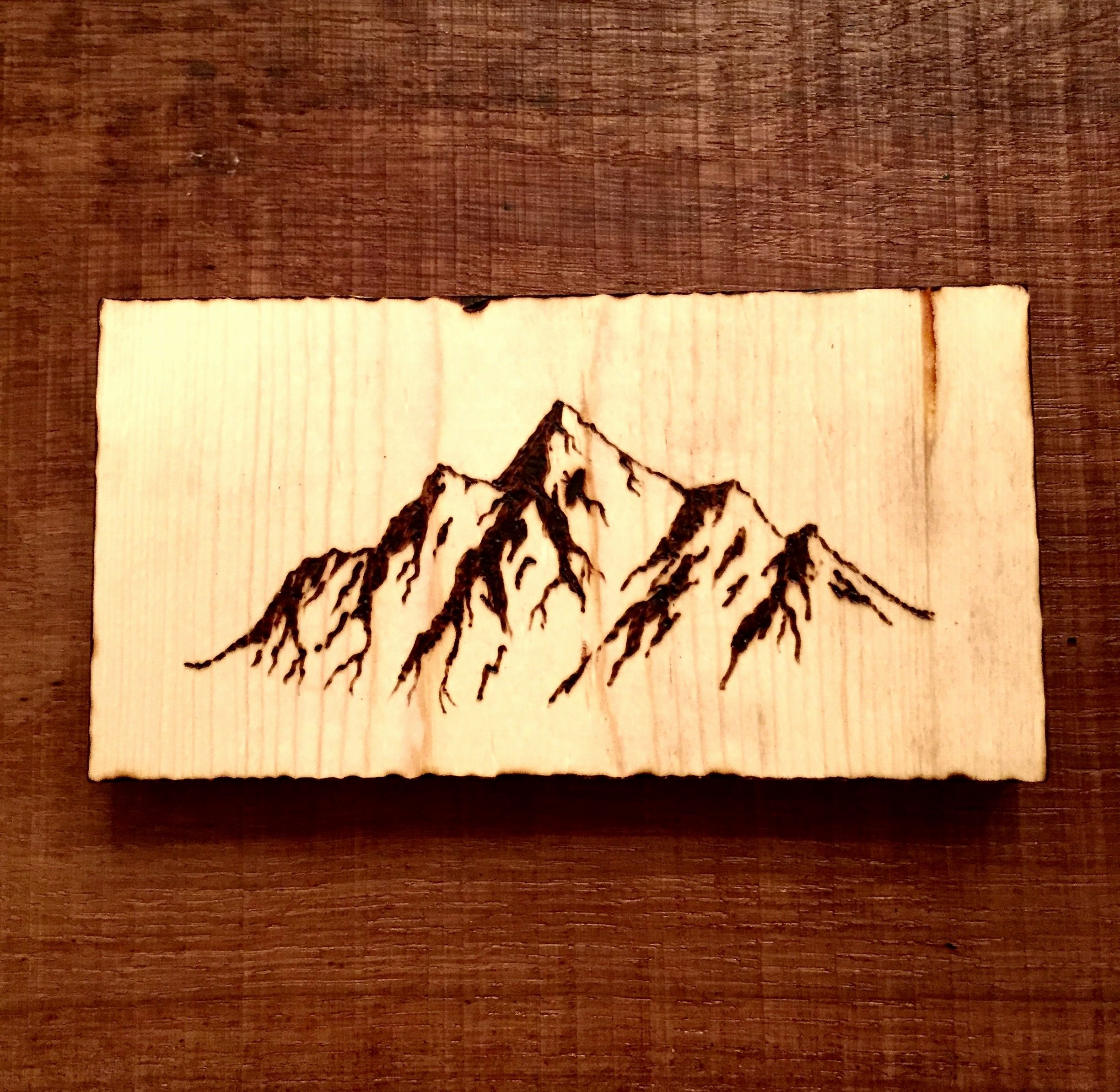 Wood Burning Art Patterns Best Of Mountains Wood Burning Pyrography