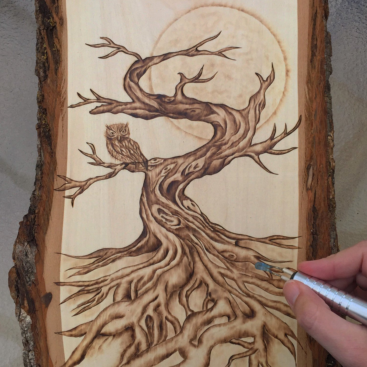 Wood Burning Art Patterns Unique Autumn Tree and Owl Woodburning Art