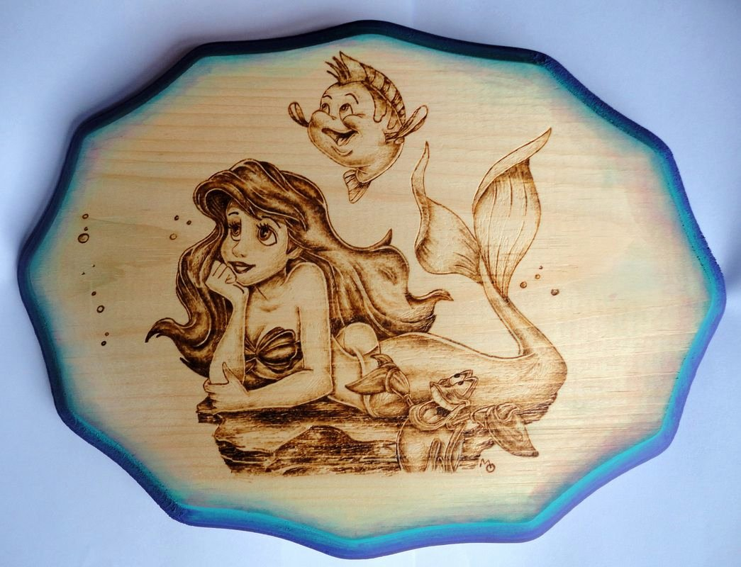 Wood Burning Art Patterns Unique Wood Burning the Little Mermaid Diy