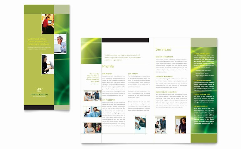 Word Brochure Template Tri Fold Awesome Internet Marketing Tri Fold Brochure Template Word