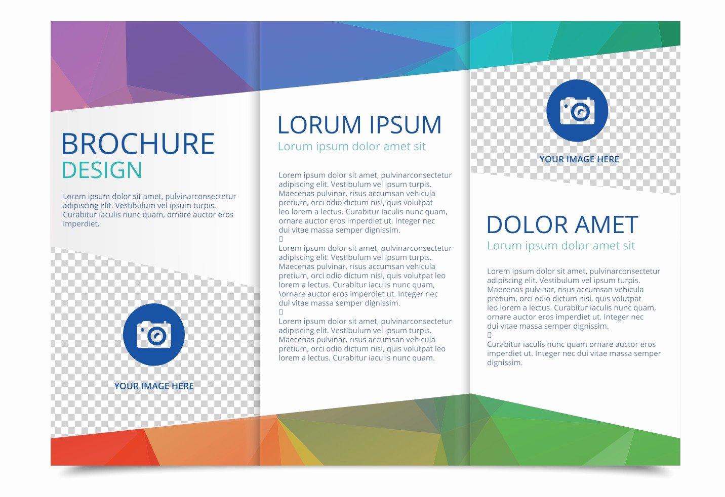 Word Brochure Template Tri Fold Beautiful Free Tri Fold Brochure Vector Template Download Free
