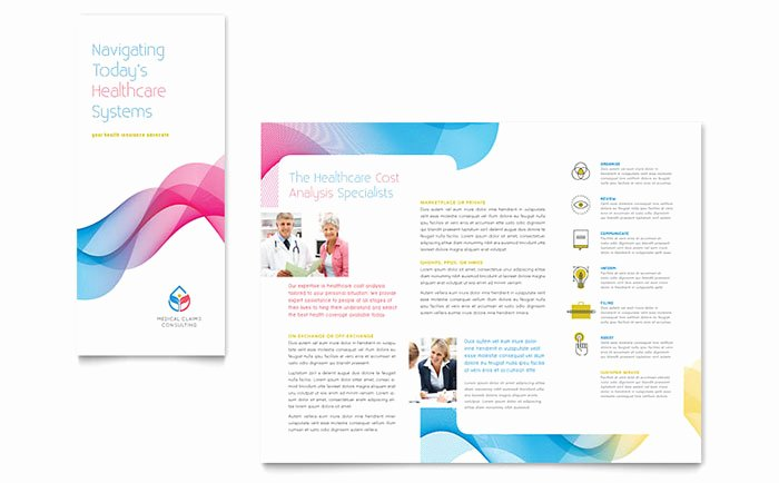 Word Brochure Template Tri Fold Beautiful Insurance Consulting Tri Fold Brochure Template Design
