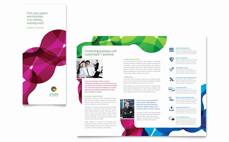 Word Brochure Template Tri Fold Best Of Network Administration Tri Fold Brochure Template Word
