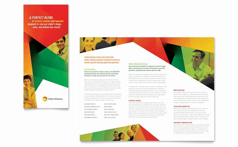 Word Brochure Template Tri Fold Fresh Public Relations Pany Tri Fold Brochure Template Word