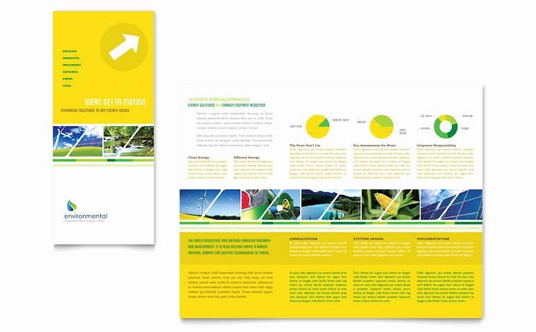 Word Brochure Template Tri Fold Lovely Environmental Conservation Tri Fold Brochure Template