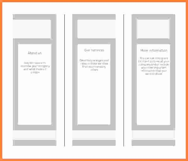 Word Brochure Template Tri Fold Unique Blank Brochure Template Word – Free Blank Tri Fold