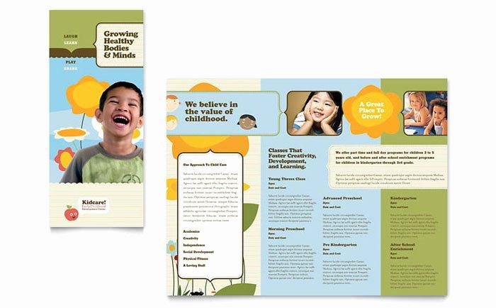 Word Brochure Template Tri Fold Unique Child Development School Tri Fold Brochure Template Design