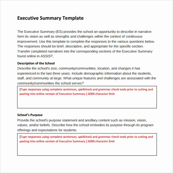 Word Executive Summary Template Awesome Sample Executive Summary Template 8 Documents In Pdf