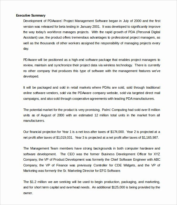 Word Executive Summary Template Best Of 31 Executive Summary Templates Free Sample Example
