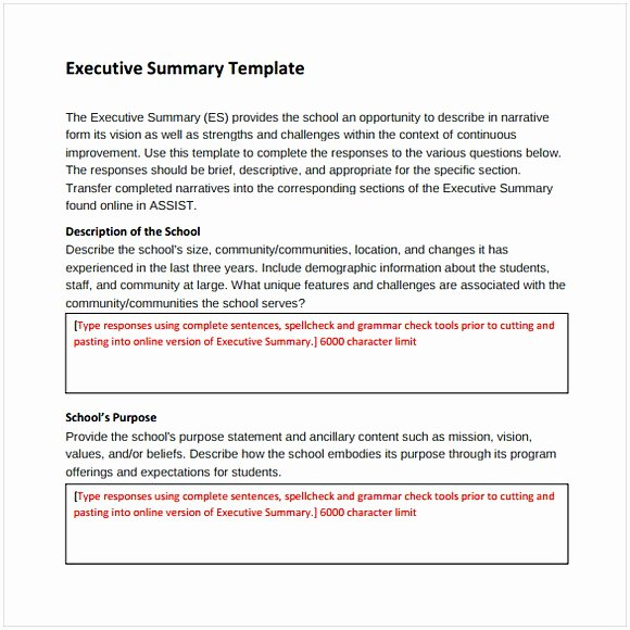 Word Executive Summary Template Best Of Executive Summary Template Word