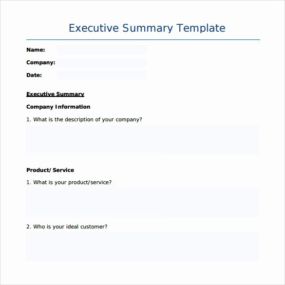 Word Executive Summary Template Luxury Sample Executive Summary Template 7 Free Documents In