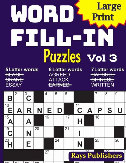 Word Fill In Puzzles Printable Awesome Print Word Fill In Puzzles 3 by Rays Publishers