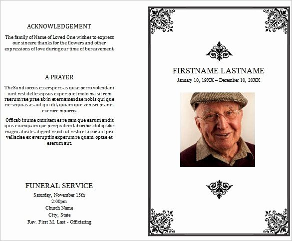 Word Funeral Program Template Best Of 31 Funeral Program Templates Free Word Pdf Psd