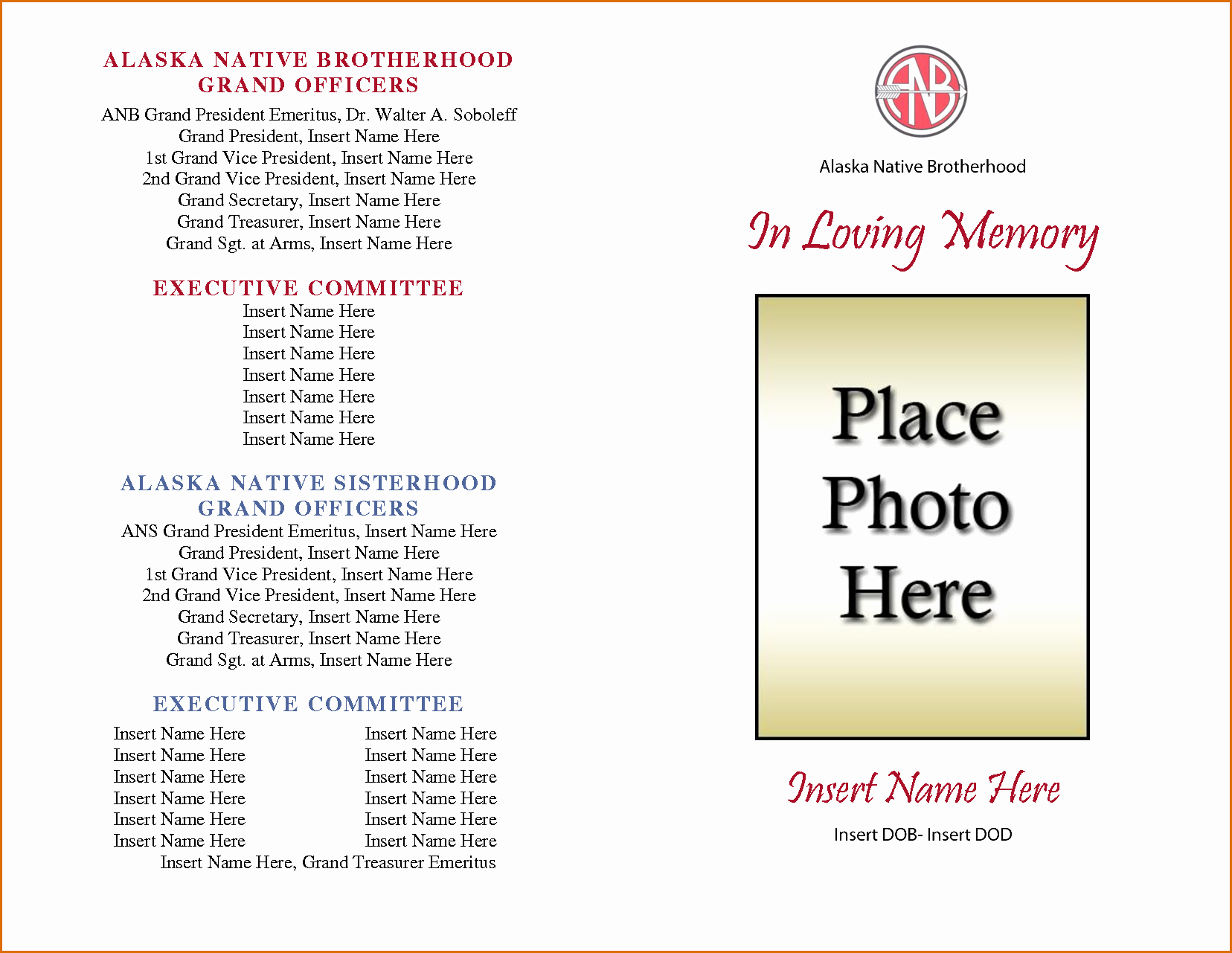 Word Funeral Program Template Best Of 8 Free Funeral Program Template Microsoft Word