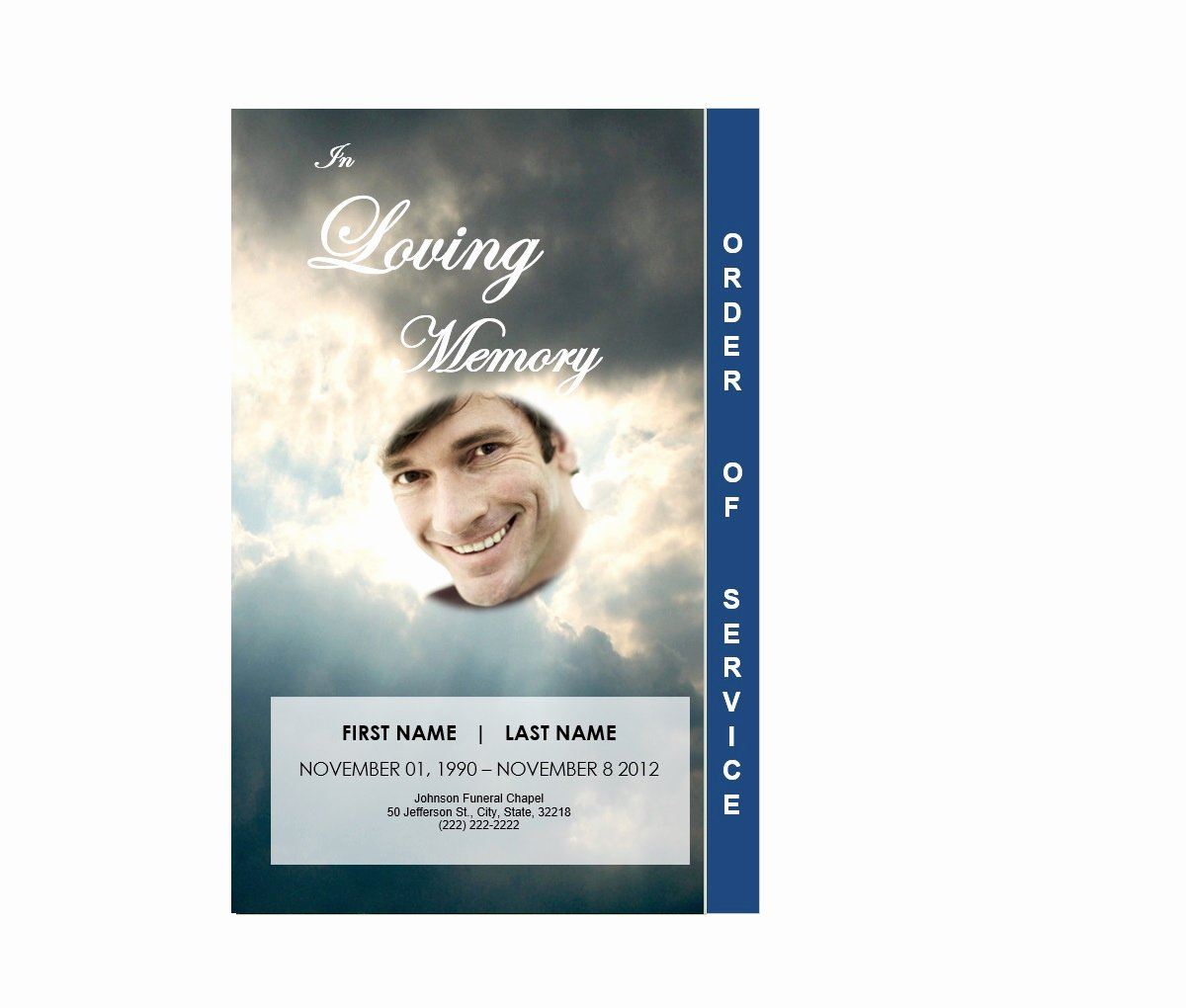 Word Funeral Program Template Elegant 2 Page Graduated Outdoor 3 Program Funeral Pamphlets