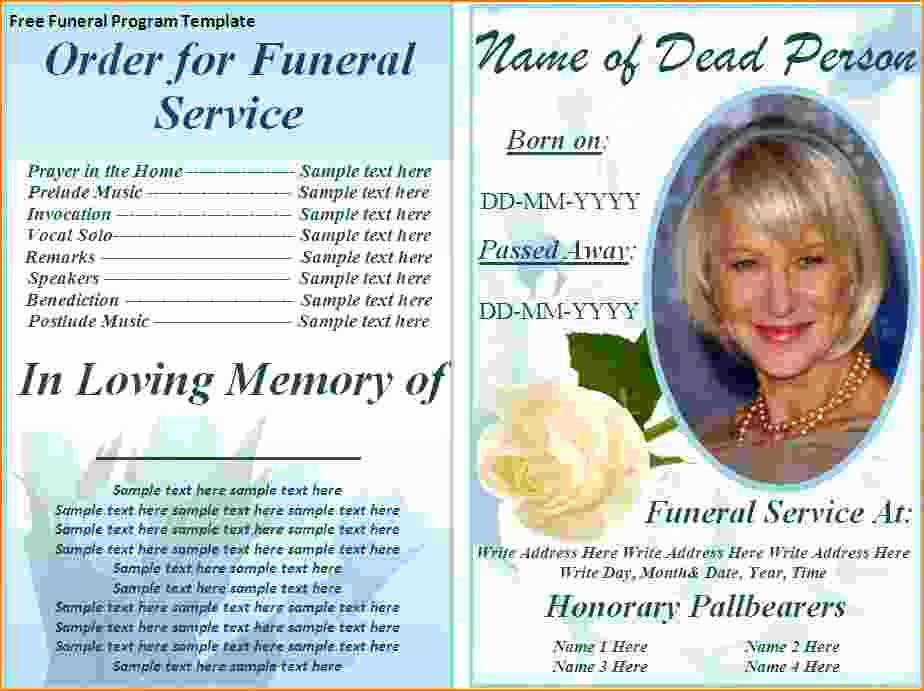 Word Funeral Program Template Elegant 5 Free Funeral Program Template for Word